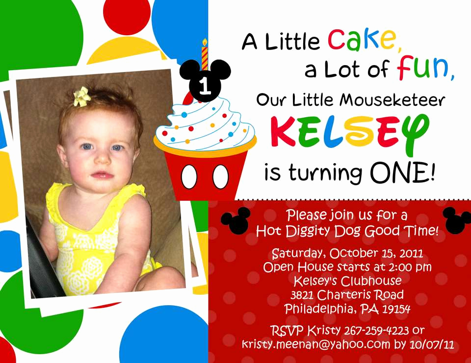 1st Birthday Invitation Ideas Best Of Free Mickey Mouse Clubhouse 1st Birthday Invitations