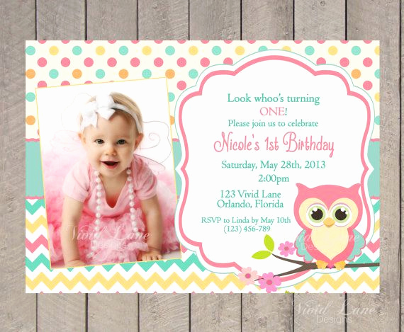 1st Birthday Invitation Ideas Fresh 17 Best Ideas About Owl Birthday Invitations On Pinterest