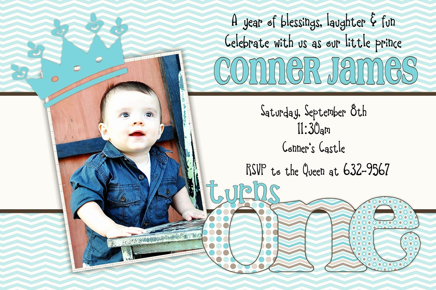 1st Birthday Invitation Ideas Fresh Little Prince Birthday E First 1st Birthday Invitation