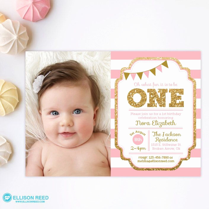 1st Birthday Invitation Ideas Inspirational 1000 Ideas About Girl Birthday Invitations On Pinterest