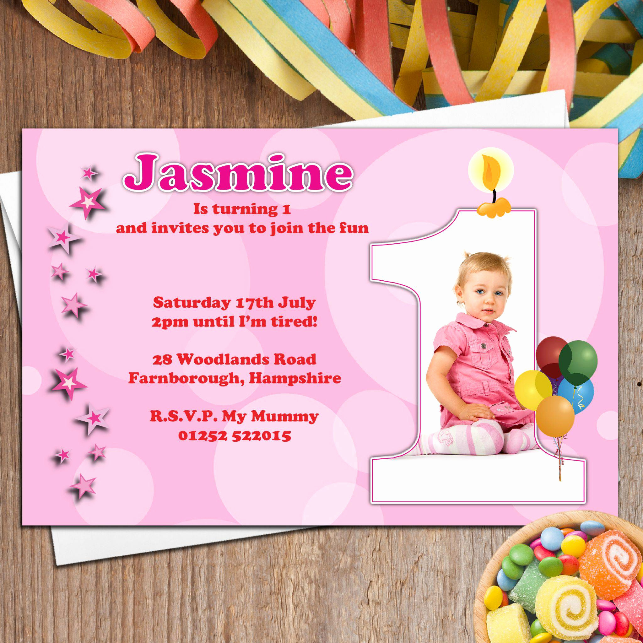 1st Birthday Invitation Message Best Of First Birthday and Baptism Invitations Baptism and First