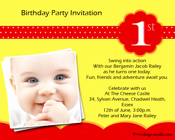 1st Birthday Invitation Message Best Of Wordings for 1st Birthday Invitation — Birthday Invitation