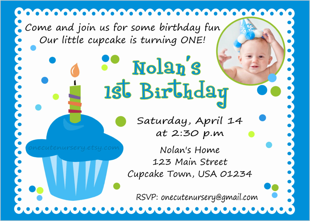 1st Birthday Invitation Message Fresh First Birthday Invitation Wording – Bagvania Free