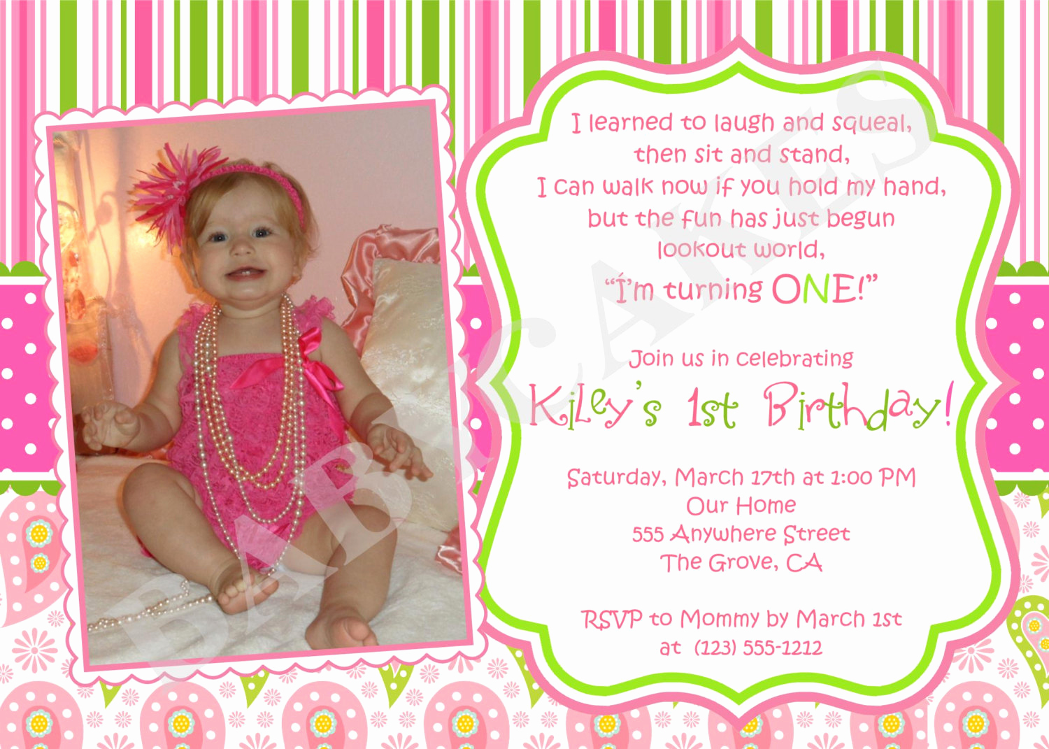 1st Birthday Invitation Message Fresh First Birthday Invitation Wording Ideas – Bagvania Free