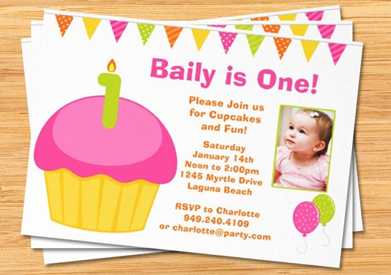 1st Birthday Invitation Message New 1st Birthday Party Invitations with