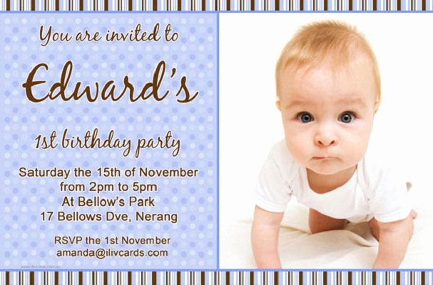 1st Birthday Invitation Message New Boys Birthday Invitation Card Templates