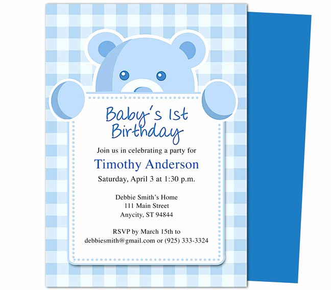 1st Birthday Invitation Template Awesome Beary Cute 1st Birthday Invitations Template Templates