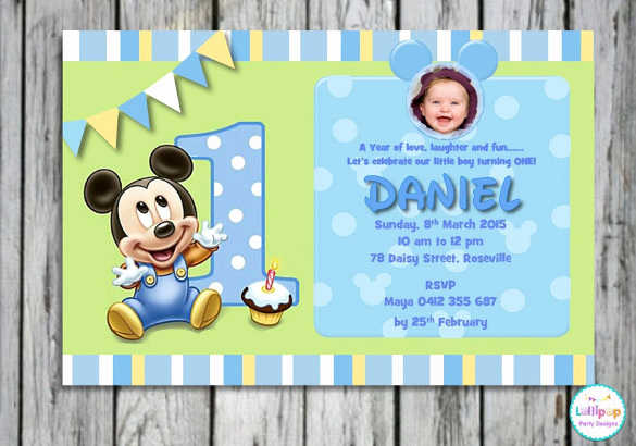 1st Birthday Invitation Template Beautiful 30 Mickey Mouse Invitation Template