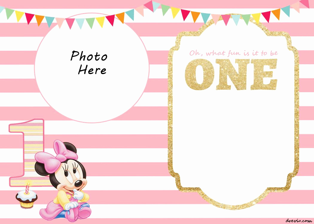 1st Birthday Invitation Template Best Of Free Printable Minnie Mouse 1st Invitation