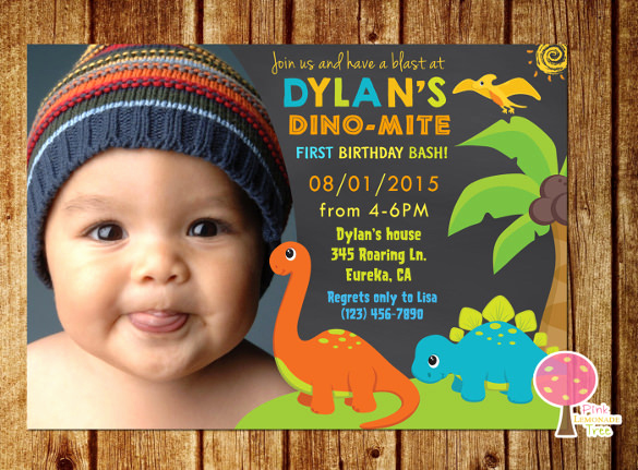 1st Birthday Invitation Template Elegant 14 Dinosaur Birthday Invitations Psd Vector Eps Ai