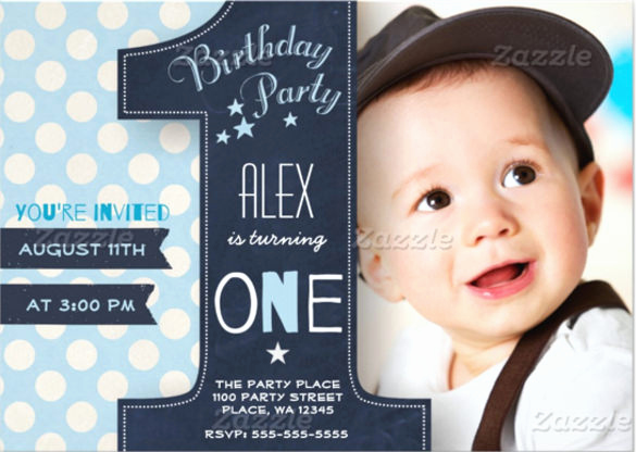 1st Birthday Invitation Template Elegant 36 First Birthday Invitations Psd Vector Eps Ai Word