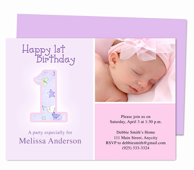 1st Birthday Invitation Template Fresh 1000 Images About Printable 1st First Birthday