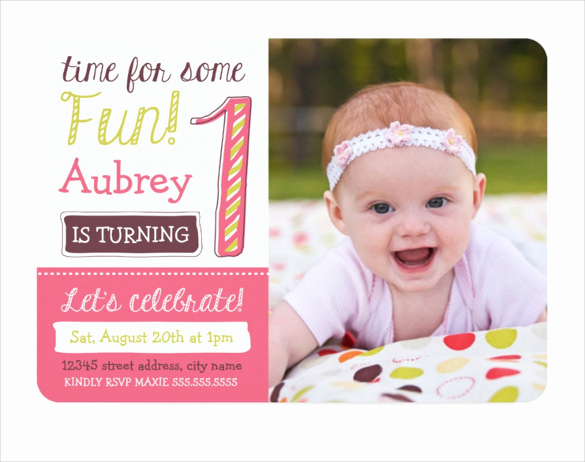 1st Birthday Invitation Template Fresh 29 Birthday Invitation Templates Free Sample Example