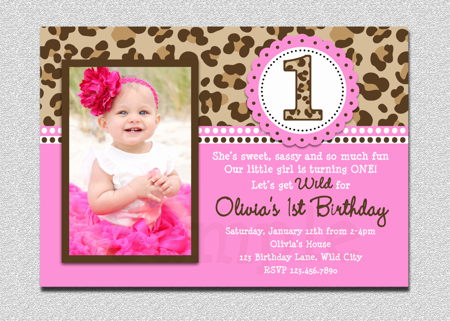 1st Birthday Invitation Template Lovely Free Printable 1st Birthday Invitations Girl – Free