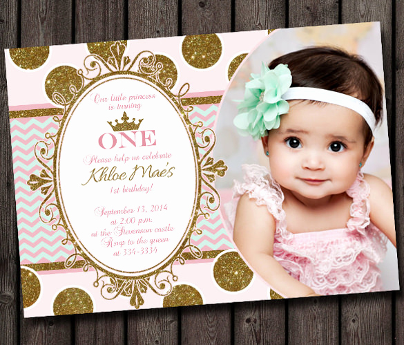 1st Birthday Invitation Template New 36 First Birthday Invitations Psd Vector Eps Ai Word