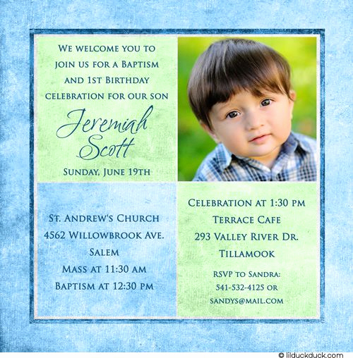 1st Birthday Invitation Wording Fresh 1st Birthday and Christening Baptism Invitation Sample