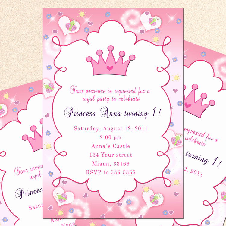 1st Birthday Invitation Wording Fresh Princess 1st Birthday Invitation Wording – Party Xyz