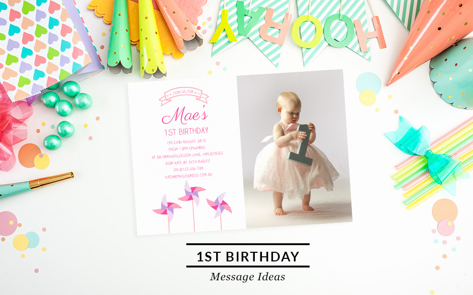 1st Birthday Invitation Wording New First Birthday Invitation Wording