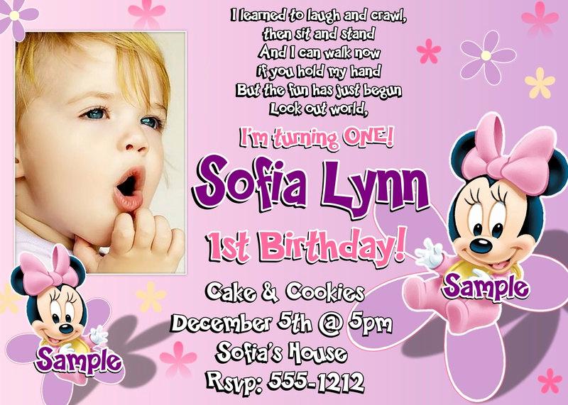 1st Birthday Invitation Wording Samples Best Of 1st Birthday Invitation Wording and Party Ideas – Free
