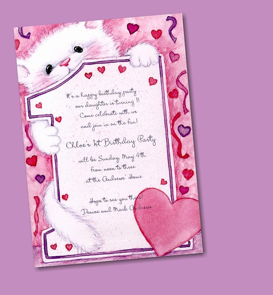 1st Birthday Invitation Wording Samples Elegant 1st Birthday Invitation Cards