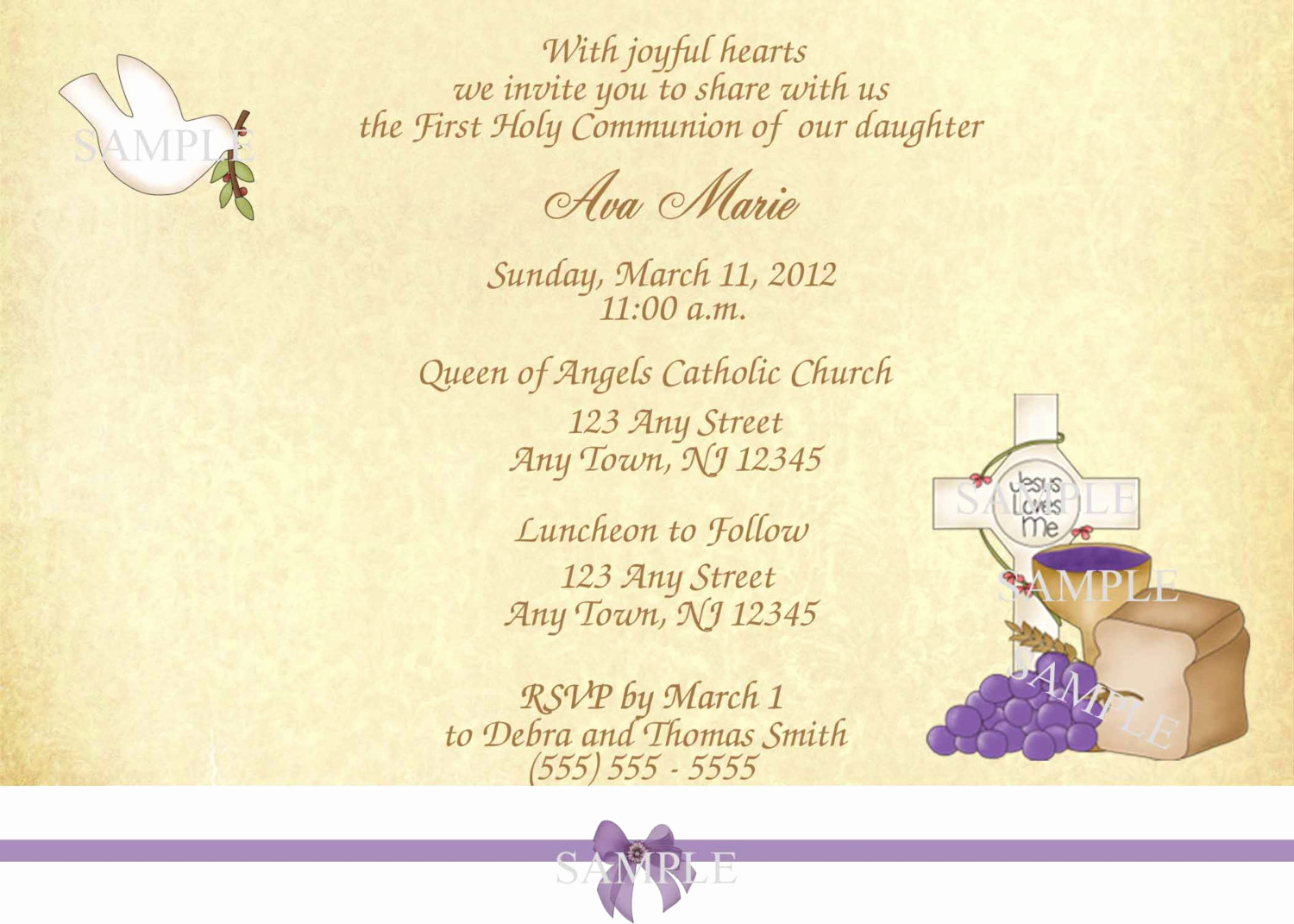 1st Communion Invitation Templates Awesome First Holy Munion Invitation Templates