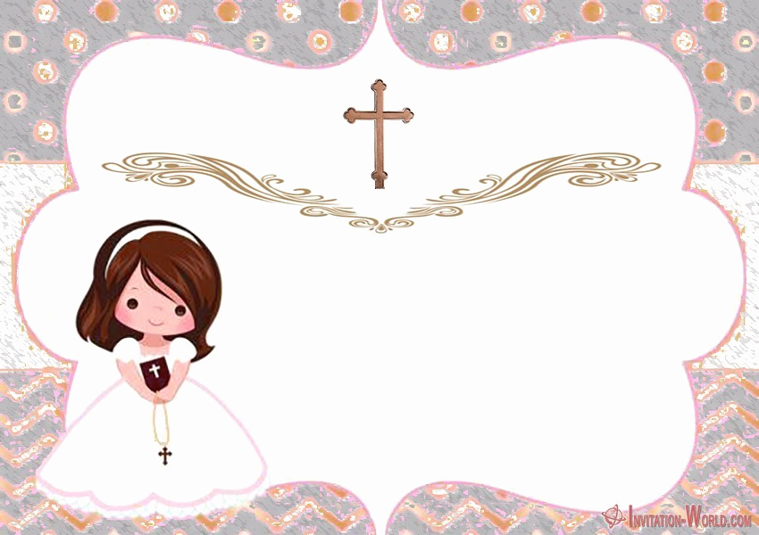 1st Communion Invitation Templates Beautiful First Munion Invitation Cards