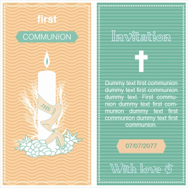 1st Communion Invitation Templates Inspirational 11 First Munion Invitations Psd Ai Illustrator Download