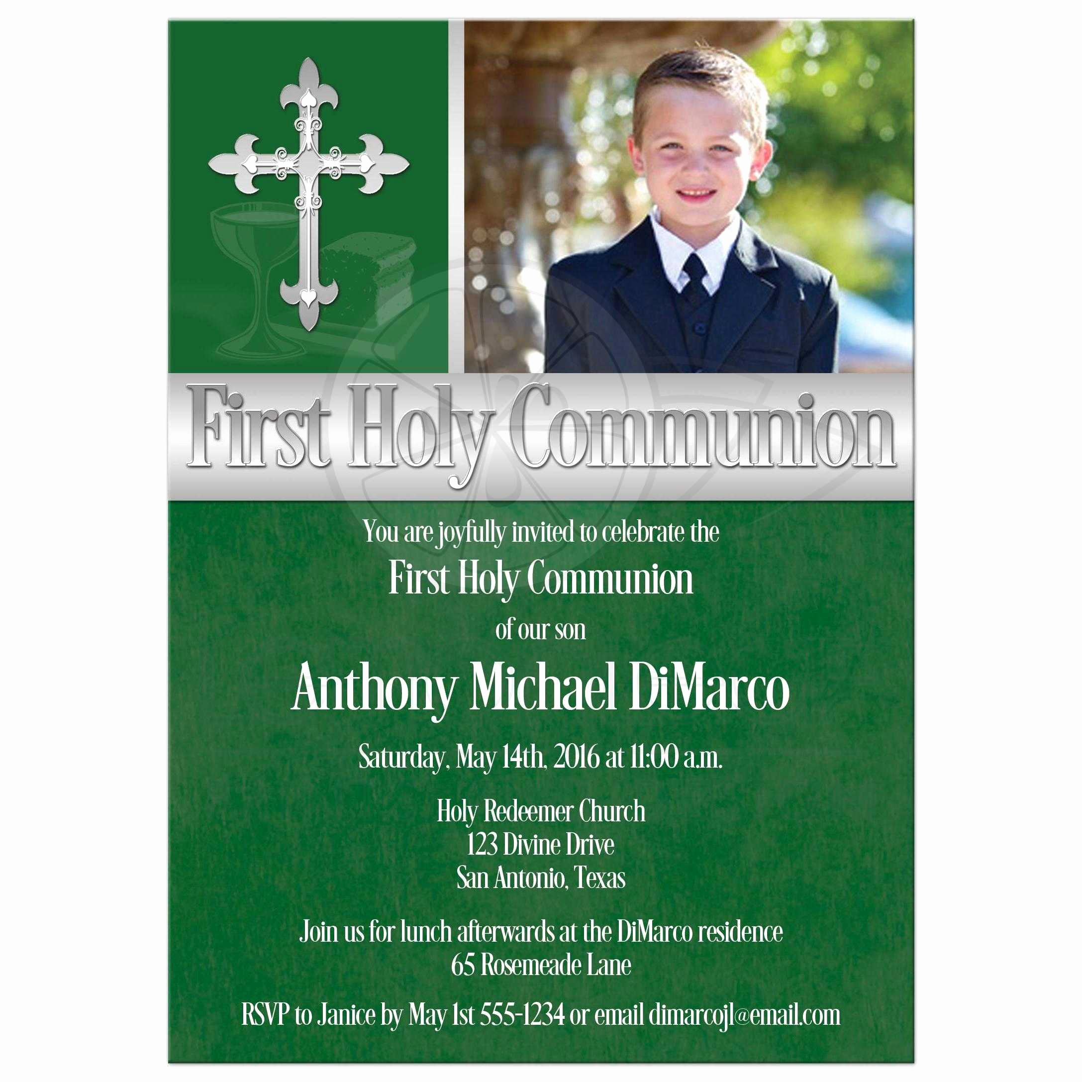 1st Communion Invitation Templates Inspirational First Holy Munion Invitation Template
