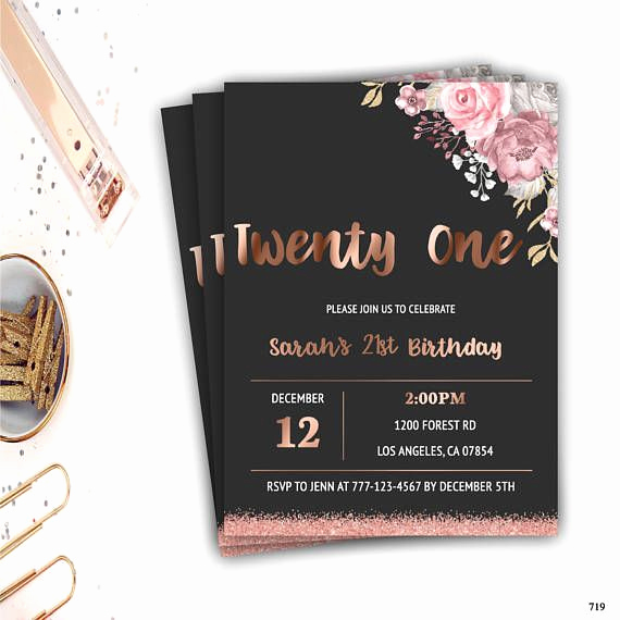 21st Birthday Invitation Ideas Awesome Best 25 21st Birthday Invitations Ideas On Pinterest