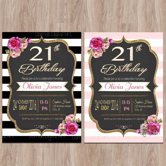 21st Birthday Invitation Ideas Inspirational Best 25 21st Birthday Invitations Ideas On Pinterest