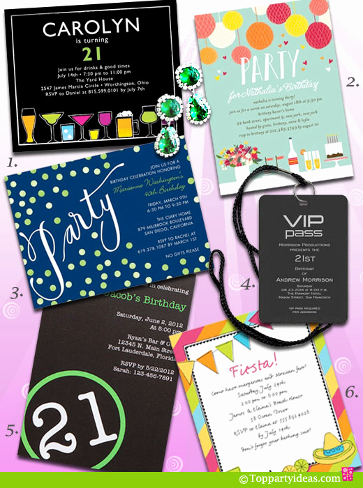21st Birthday Invitation Ideas Lovely 21st Birthday Party Ideas