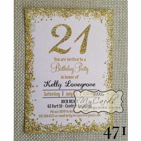 21st Birthday Invitation Ideas Luxury Gold Glitter Confetti Pink 21st Birthday Invitation