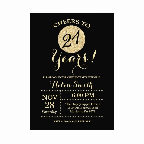21st Birthday Invitation Templates Awesome 11 21st Birthday Invitation Designs & Templates Psd Ai