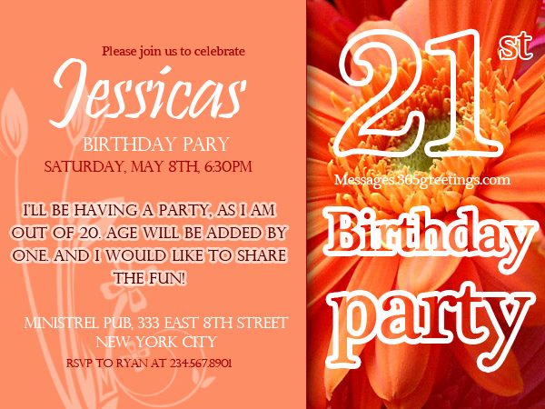 21st Birthday Invitation Templates Awesome 21st Birthday Invitations 365greetings