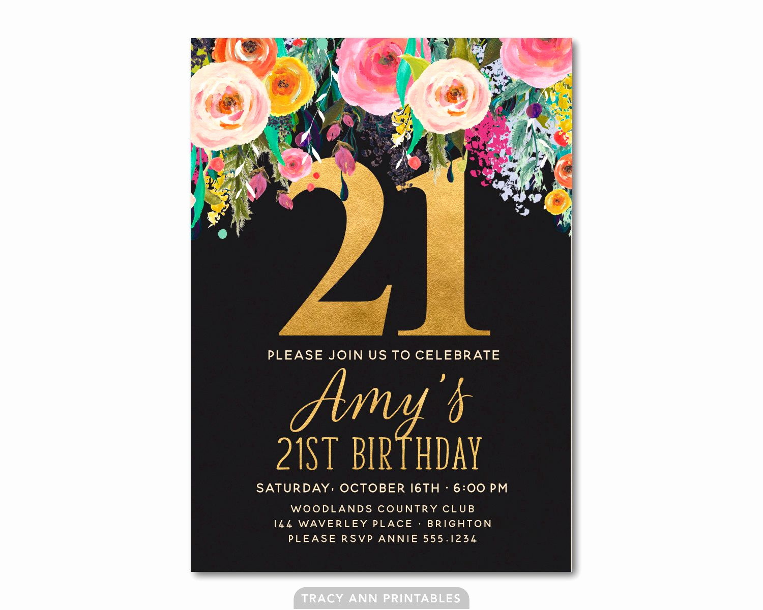 21st Birthday Invitation Templates Awesome Download Free 21st Birthday Invitations Wording