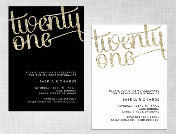 21st Birthday Invitation Templates Beautiful 21st Birthday Invitations Templates