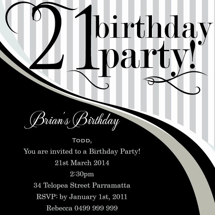 21st Birthday Invitation Templates Beautiful Best 25 21st Invitations Ideas On Pinterest