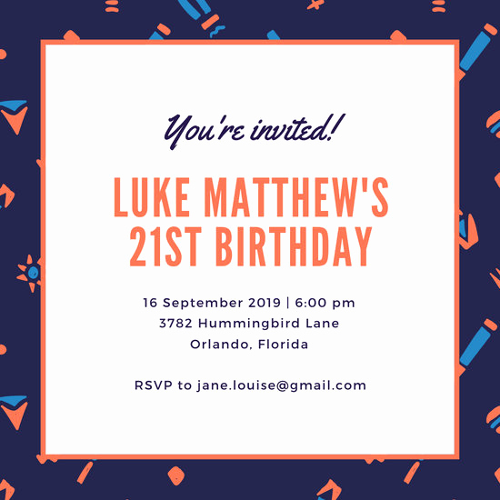 21st Birthday Invitation Templates Beautiful Customize 108 21st Birthday Invitation Templates Online