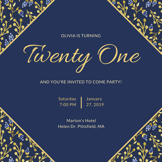 21st Birthday Invitation Templates Best Of 21st Birthday Invitation Templates Canva