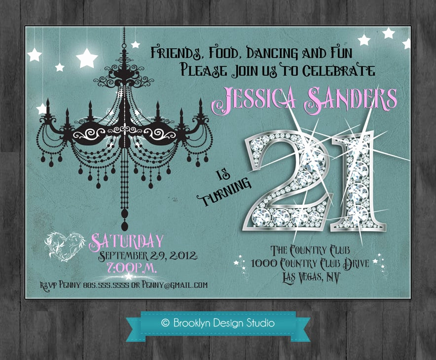 21st Birthday Invitation Templates Elegant 21 Birthday Invitation