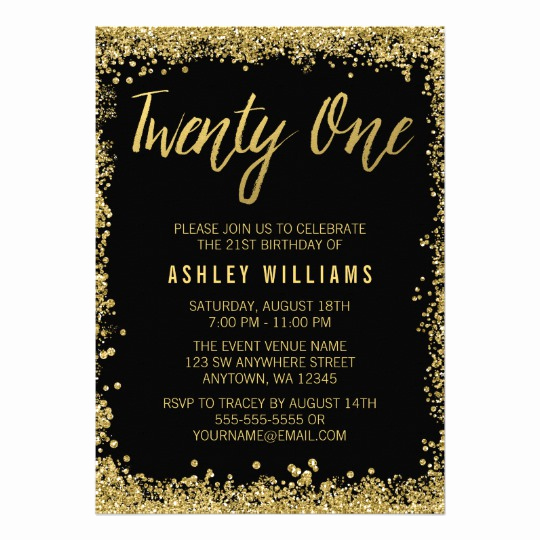 21st Birthday Invitation Templates Fresh Free 21st Birthday Invitations Wording – Free Printable