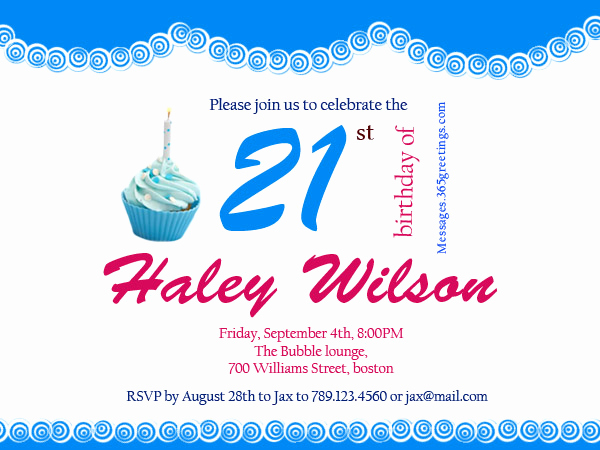 21st Birthday Invitation Templates Inspirational 21st Birthday Invitations 365greetings
