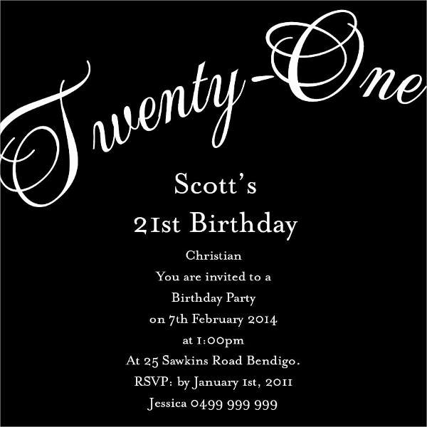 21st Birthday Invitation Templates New 31 Examples Of Birthday Invitation Designs Psd Ai