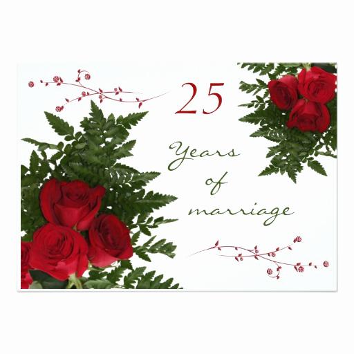 25th Anniversary Invitation Cards Beautiful 25th Wedding Anniversary Invitation Card Ladyprints