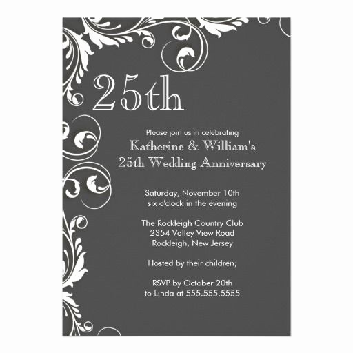25th Anniversary Invitation Cards Fresh 152 Best Images About 25th Wedding Anniversary Party