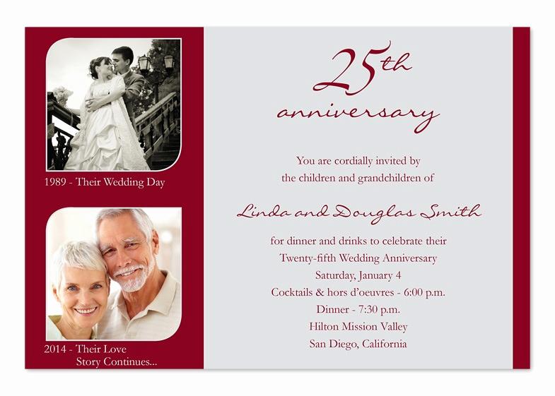 25th Anniversary Invitation Cards Fresh 25th Wedding Anniversary Invitation Cards A Birthday Cake