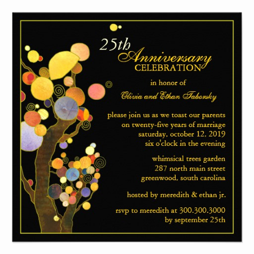 25th Anniversary Invitation Cards Lovely 25th Silver Wedding Anniversary Party Invitations 5 25