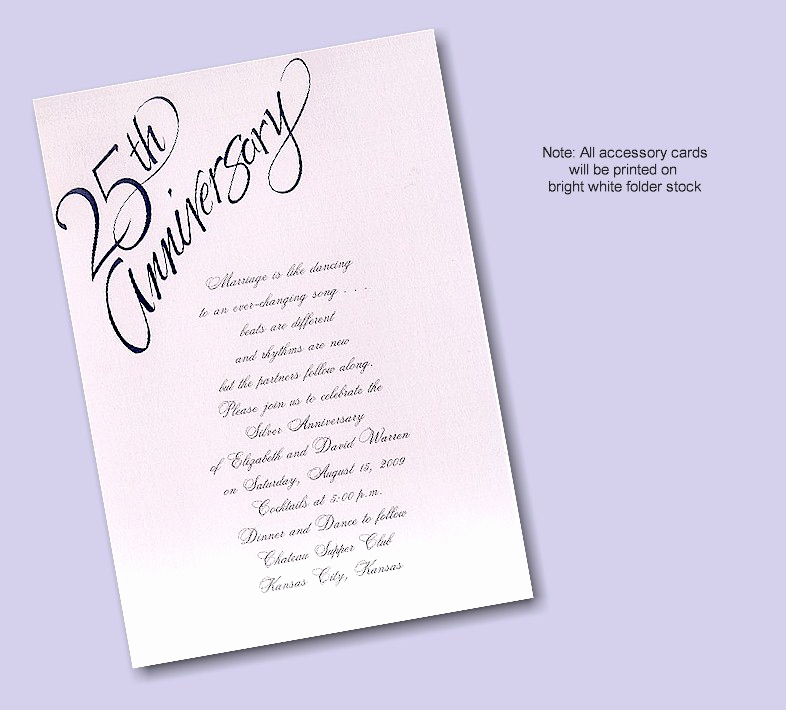 25th Anniversary Invitation Cards Luxury 25th Wedding Anniversary Invitation Wording Examples