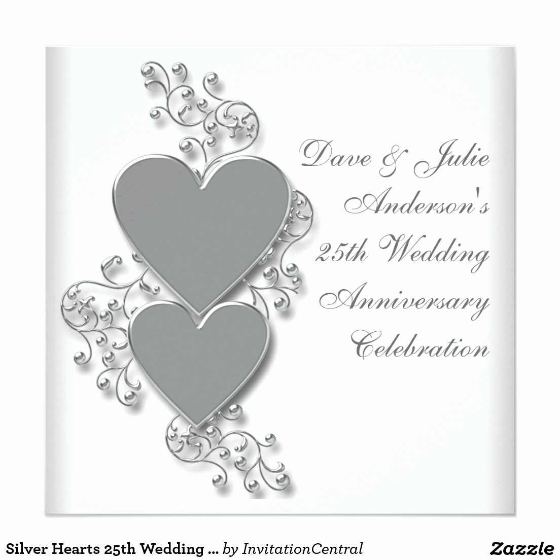 25th Anniversary Invitation Cards Luxury Invitation Cards for 25th Wedding Anniversary