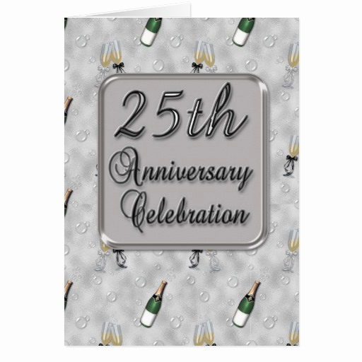 25th Anniversary Invitation Cards New 25th Anniversary Party Invitation Greeting Card